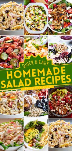 On the lookout for fresh salad ideas? We have the best of Quick and Easy Salad Recipes for you! From side salad recipes to healthy salad recipes and salad recipes for dinner. You want it, we got it! Save this pin.