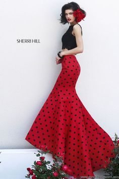 Huge selection of Sherri Hill prom & homecoming dresses, largest Sherri Hill retailer in the world at Peaches Boutique. Two Piece Dress, The Dress, Sherri Hill Homecoming Dresses, Evening Dresses, Formal Dresses, Dresses 2014, Red Skirts, Beautiful Outfits, Bridal Gowns