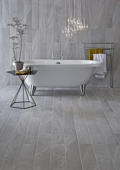 Bathroom Floor Tiles at Topps Tiles. Cheap Bathroom Tiles, Modern Bathroom Tile, Bathroom Tile Designs, Cheap Bathrooms, Bathroom Floor Tiles, Simple Bathroom, Bathroom Ideas, Bathroom Tubs, Bathroom Gray