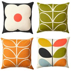 """notes to a further excuse"" / Orla Kiely Cushion Collection"