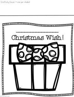 We focused on the true meaning of the holiday season.  Making wishes to help others and make this world a better place!  Grab this cute activity to do with your kiddos!