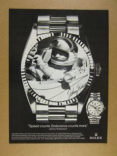 #rolex #johnnyrutherford #president #daydate #vintage #mens #watch #ads #watches #advertisements #wristwatches #classic #stawc