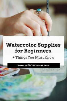 Essential things to know for beginners getting started with watercolor painting. Read this before buying your watercolor supplies!   #watercolorforbeginners #watercoloursupplies #watercolorpaper #tipsforbeginnerartists #affordableartsupplies #watercolorpaintsetforbeginners Watercolor Beginner, Watercolor Tutorials, Drawing For Beginners, Learn To Draw, Painting Tips, Art Tips, Craft Tutorials, Sketchbooks, Art Journaling