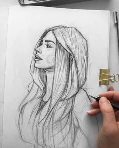 Sketch Artist Ani Cinski Ani Cinski is a German pencil sketch artist, Illustrator and Graphic Designer. For More Details View Website Ani Cinski is a German pencil sketch artist, Illustrator and Graphic Designer. For More Details View Website Face Sketch, Girl Sketch, Pencil Art Drawings, Art Drawings Sketches, Sketch Art, Girl Pencil Drawing, Pencil Sketches Of Girls, Girl Face Drawing, Drawing Girls