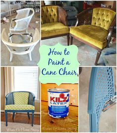 How to paint a cane chair - Whats Ur Home Story