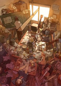 Otaku Rooms Gallery - Anime Style! - For some reason this inspired me a lot! One of the coolest anime artworks on the net which I've compiled on my blog