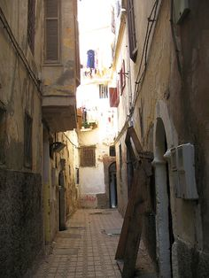 narrow street in the Old #Medina, #Casablanca