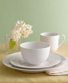 Martha Stewart Collection Dinnerware, Kensington Whiteware Collection - Casual Dinnerware - Dining & Entertaining - Macy's