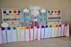 farah's rainbow sweet table | CatchMyParty.com