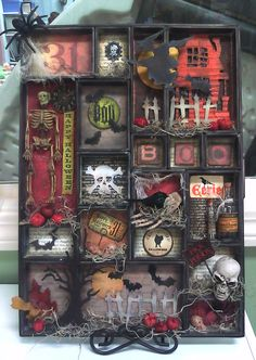 Halloween Configuration Box by Donna S  at The Inspiration Station, Stafford Springs, CT