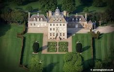 aerial photograph of Ashdown House, Oxfordshire England UK. Built in the Century Ashdown Park is today owned by the National Trust and has recently been renovated. English Manor Houses, England Uk, 17th Century, Mansions, Park, House Styles, Building, Image, Drawer