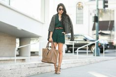 Emerald Friday :: Lace romper & Buckle-detailed pumps