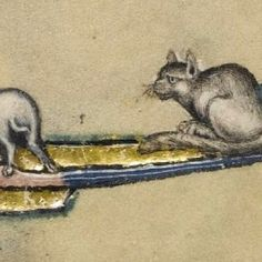 The cats of the Macclesfield Psalter - Essex Voices Past Medieval Music, Medieval Art, Medieval Manuscript, Illuminated Manuscript, Ugly Cat, Grey Cats, Animals Images, Western Art, Cat Art