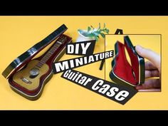 DIY- How to make a mini guitar tutorial- Cold Porcelain or Polymer Clay - YouTube