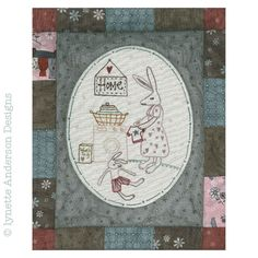 - Comforts of Home - Month 4 Vintage World Maps, Patches, Linnet, Diy Crafts, Embroidery, How To Make, Fun, Pictures, Green
