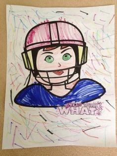 """from a fan: """"Football coloring pages featuring girls as the players are pretty much non-existent, until now! Thank you - Girls Can't What!"""""""