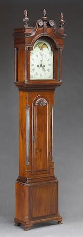 A Chippendale carved mahogany tall case clock, 1770-1790