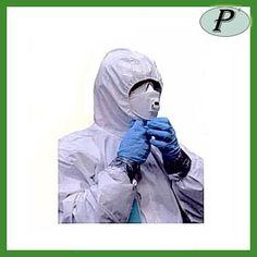 Buzos polipropileno plastificados, monos blancos con capucha.     Ver más información: http://www.tplanas.com/epis/vestuario-desechable/574-buzos-polipropileno-plastificados.html