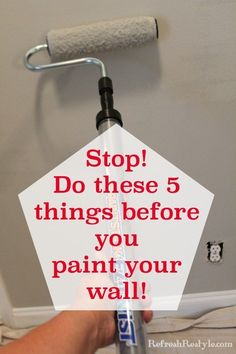 How to prep walls before painting them! Give your walls a professional look with these 5 simple tips to do before you crack open that can of paint!