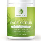 Exfoliating Tea Face Scrub - Natural & Organic - Moisturize, Cleanse and Repair Skin - Natural Facial Scrub with Green & White Tea, Avocado & Olive Butters, and Aloe - Foxbrim Exfoliating Face Scrub, How To Exfoliate Skin, Exfoliating Gloves, Face Scrub Homemade, Facial Scrubs, Natural Skin, Natural Facial
