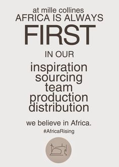 """MILLE COLLINES //  Mille Collines was founded in spring 2009, in Kigali (Rwanda), based on a strong vision: """"Africa first"""". Made in Africa for Africa in order to change the world perception of African products, bringing people closer to a luxury fashion brand featuring unique items made by craftsmen."""