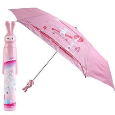 Aliexpress.com : Buy Pink Mini Folding Umbrella for Kids Cute Rabbit Pattern 54755 from Reliable Kids Umbrella suppliers on Chinatownmart (HongKong) Limited