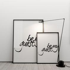 Plakát Be my guest, 50x70 cm   Bonami