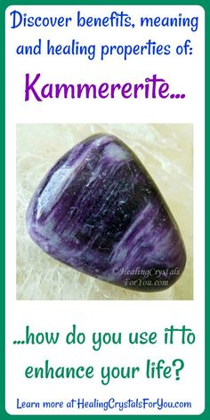 Crystal Properties and Meanings Kammererite #Kammererite balances the #brain, brings #harmony, #healing and #protection