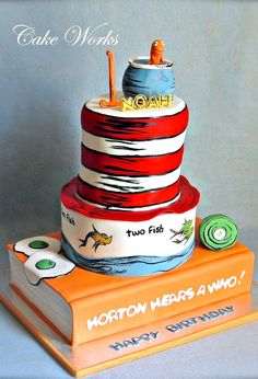 Dr Seuss Themed Cake