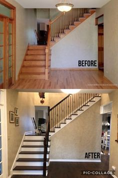 #staircase #remodel #before and after