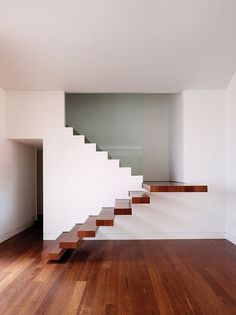 10 Questions With... Chad Oppenheim | Dream steps within Villa Allegra, a one-story ranch house in Miami, designed by Oppenheim Architecture + Design. #design #interiordesign #interiordesignmagazine #architecture #staircase #wood #minimal