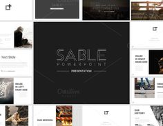 Sable Powerpoint Template by ThemeDevisers on @creativemarket