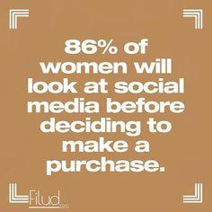 As many as of women shoppers say they are more likely to buy a brand theyve never purchased when they begin to interact with that brand on social media. Facebook Marketing, Online Marketing, Social Media Marketing, Digital Marketing, Seo Consultant, Marketing Consultant, Seo Agency, Reputation Management, Local Seo