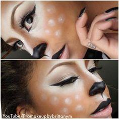 Fantastic tutorial for deer/doe make up