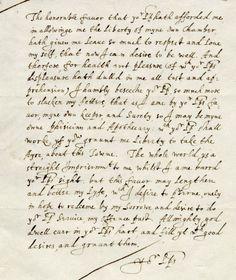 John Donne handwriting @ Poem Shape
