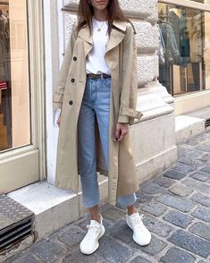 Winter Fashion Outfits, Spring Outfits, Modest Fashion, Outfit Winter, Outfit Summer, Casual Summer, Jeans And Sneakers Outfit, White Sneakers Outfit Spring, Outfit Jeans