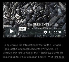 Chemistry as Art — Envisioning Chemistry Film Up, Things Under A Microscope, Chemical Reactions, Human Body, Chemistry, Periodic Table, Periodic Table Chart, Periotic Table