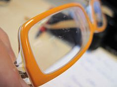 Remove Scratches From Plastic Lenses - #DIY
