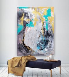 Extra Large Wall Art Original Painting on Canvas Contemporary Wallart Modern Abstract Living Room Wall ArtColorful Abstract Painting Extra Large Wall Art, Large Art, Large Canvas, Large Abstract Wall Art, Canvas Wall Art, Art Original, Original Paintings, Texture Painting On Canvas, Large Painting
