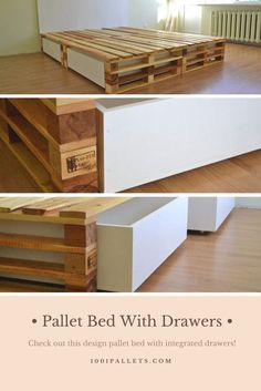 Simple Pallets Bed with Drawers!