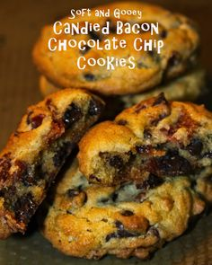 Soft and Gooey Candied Bacon Chocolate Chip Cookies