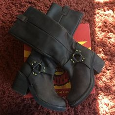 Authentic Jeffrey Campbell Brando Boots  Jeffrey Campbell brown distressed Brando boot in size 7.5. Good condition (only worn 4 times). Leather boots will come with original box. Box is in okay condition with some vents ❤️ please let me know if you have any questions Jeffrey Campbell Shoes Heeled Boots