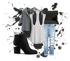 """Gray Splatter"" by thefashionpixie on Polyvore featuring Genetic Denim, Givenchy, NIC+ZOE, Alexander Wang and Rebecca Minkoff"