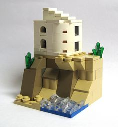 Villa on a cliff (microscale) by JETfri, Lego Mini Modular Lego Projects, Projects To Try, Legos, Casa Lego, Micro Lego, Lego Pictures, Lego System, Lego Castle, Lego Worlds