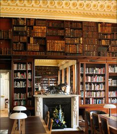 Stowe House Library by Canis Major, via Flickr. Part of the library in Stowe House, Buckinghamshire. The library is still used by pupils at Stowe School so the books are not all as antiquated as in many old houses.