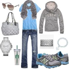 Comfy! But either without the hoodie or  the scarf... bc who wears a scarf with a hoodie! Lol!
