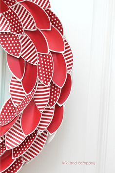 Apple Wreath from kiki and company. LOVE this!