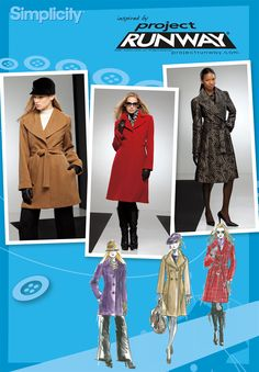 Misses and petite coat Project Runway pattern 2311 Simplicity