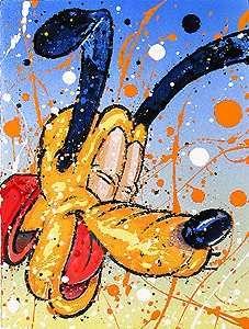 Pluto - Whats so Dog Gone Funny - David Willardson - World-Wide-Art.com - $750.00 #DavidWillardson #Disney #Pluto