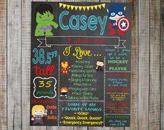 Avengers Birthday Chalkboard / Avengers by AudreyEdesigns on Etsy Avengers Birthday, Minion Birthday, Minion Party, Superhero Party, 4th Birthday Parties, 2nd Birthday, Birthday Ideas, Birthday Chalkboard, Chalkboard Printable